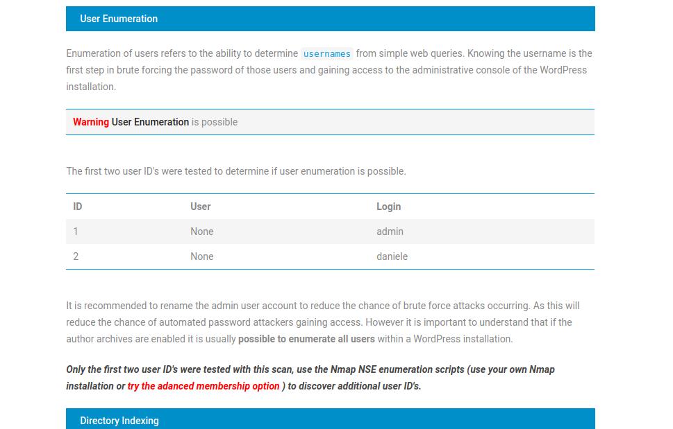 Username Enumeration Acunetix